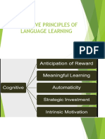Cognitive Principles of Language Learning