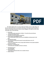 FUNDA FRIDAY_HEALTH CENTER.doc