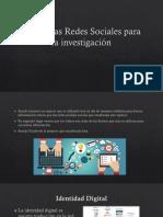 Uso de Las Redes Sociales Para La Investigación