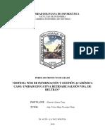 sistema web de gestion academica