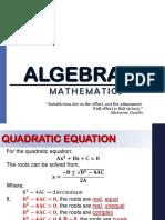 algebra( refresher)