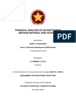 Financial Analysis of an Institution
