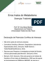 Erros Inatos Do Metabolismo - Doenças Tratáveis