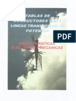 Tablas de Conductores Para Linea de Transmision