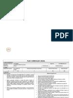 Plan Curricular Anual 2018 - 2019 Contabilidad Bancaria
