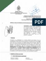 Requerimiento de Levantamiento Inmunidad Parlamentaria Contra Congresista Mamani