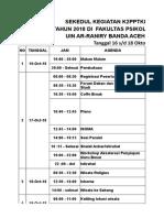 Schedule Acara
