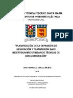 Planificación de La Expansión de Generación y Transmisión Bajo Incertidumbre Utilizando Algoritmos de Descomposición