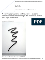 A sociologia pragmática em três gestos – ou como caminhar rumo à uma sociologia dos problemas íntimos, por Diogo Silva Corrêa _ Blog do Sociofilo