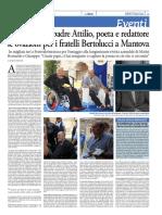 Nel nome del padre Attilio, poeta e redattore le ovazioni per i fratelli Bertolucci a Mantova