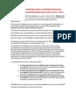 Régimen de Incorporación Fiscal en El 2014 y 2015