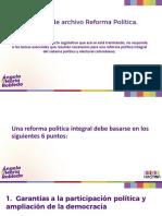 Presentación ponencia de archi Reforma Política Electoral.