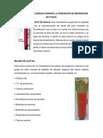 Herramientas Utilizadas Durante La Operación de Reparación de Pozos