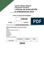 Registro Auxiliar de Evaluacion 2016
