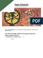 236. the Strength of Shiva; Narayana's Sister by Maha Periyava (Part 3) – Sage of Kanchi