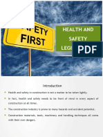 Health and safety legislations