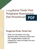 Pengukuran Tanda Vital, Pengkajian Keperawatan Dan Pemeriksaan