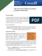 Acceso Al Trabajo America Latina