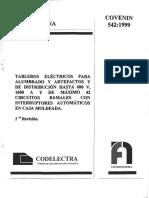 542-99.NORMA COVENIN TABLEROS ELECTRICOS (1).pdf