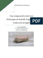 Una Comparación Entre Los Pichiciegos de Rodolfo Fogwill y Su Traducción Al Inglés