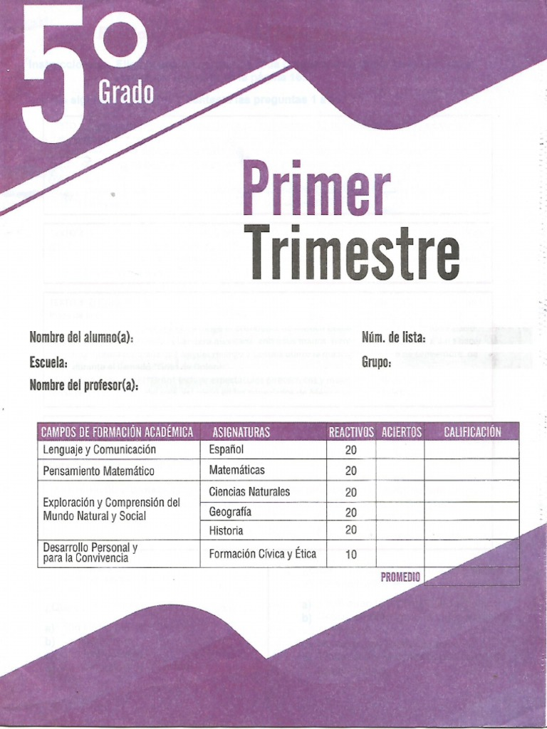 Examen Edit Mateo Quinto Primer Trimestre