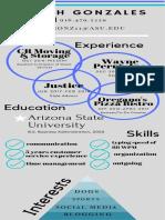sarah gonzales infographic resume