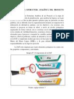 Diseño de La Estructura Analítica Del Proyecto