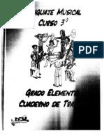 Cuaderno de Trabajo de 3º Lenguaje Musical