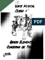 Cuaderno de Trabajo de 4º Lenguaje Musical