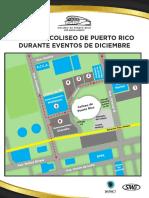 Mapa del estacionamiento para Coliseo de Puerto Rico