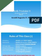 Teknik Produksi II - Rule of Class