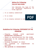 Guidelines for Critiquing Research Paper