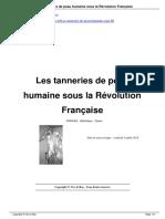 Les Tanneries de Peau Humaine Sous La Rvolution Franaise