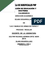 Manejo de Armas Pnp monografia lista