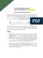 Acta Eleccionaria CIP 2018