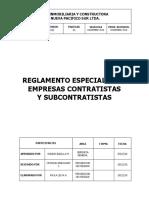 RECS-00 - Reglamento Para Empresas Contratistas y Subcontratista NPS REV.12