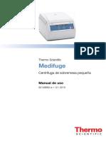 Medifuge Centrifuge Manual 50148662 a ES