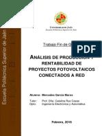 Analisis de Produccion y Rentabilidad de Proyectos Fotovoltaicos Conectados a Red