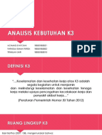 ANALISIS KEBUTUHAN K3