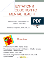 Orientation & Introduction to Mental Health 2017