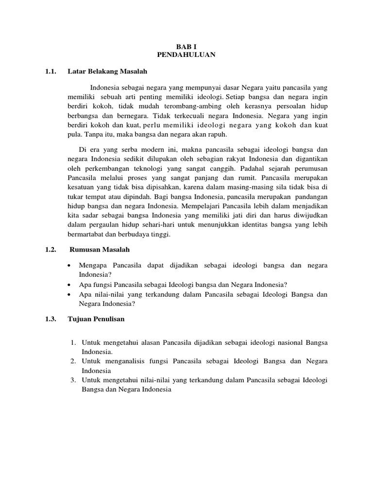 Pancasila Sebagai Ideologi Negara Fix
