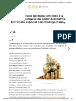 A Democracia Gerencial Em Crise e a Potência Anárquica Do Poder Destituinte. Entrevista Especial Com Rodrigo Karmy - Instituto Humanitas Unisinos - IHU