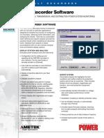 Fault Recorder Software Data Sheet