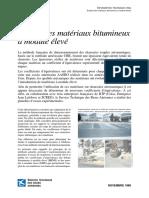 INFORMATION TECHNIQUE STBA - Emploi Des Matériaux Bitumineux à Module Élevé