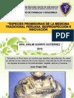 Bioprospección e Innovación en Especies Promisorias de La Medicina Tradicional Peruaniia