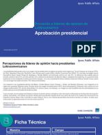 Aprobacion de Presidentes