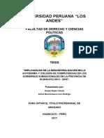 TESIS - IMPLICANCIAS DE LA DESCENTRALIZACIÓN EN LA AUTONOMÍA Y COLISIÓN DE COMPETENCIAS EN LOS GO.pdf