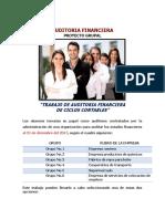 Directrices Del Proyecto Final de Auditoria Financiera 2018-3 J-1