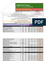 Ed 5 - Tabela Preços Ponto M - TABELA