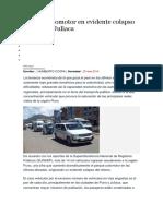 Parque Automotor en Evidente Colapso en Puno y Juliaca